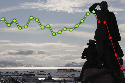 STØRST NEDGANG: Målt i absolutte tall har Vadsø mistet flest innbyggere det siste året. Loppa mistet den høyeste andelen av innbyggerne.