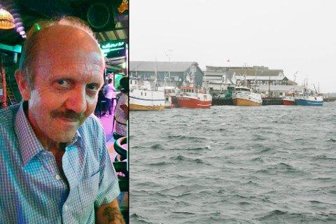 TIL VARMERE STRØK: Terje Andersen driver med fiske i Berlevåg. Han drar tre ganger i året til varmere strøk.