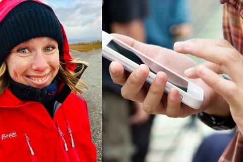 FESTLØVE: Ansvarlig redaktør Anniken Renslo Sandvik i Finnmarken er glad for at ikke alle var utstyrt med smarttelefon da hun var tenåring.