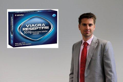 Salgssuksess: Daglig leder i Farmasiet.no, Hans Kristian Furuseth, forteller at de har solgt over tre ganger så mye som forventet av reseptfri viagra.
