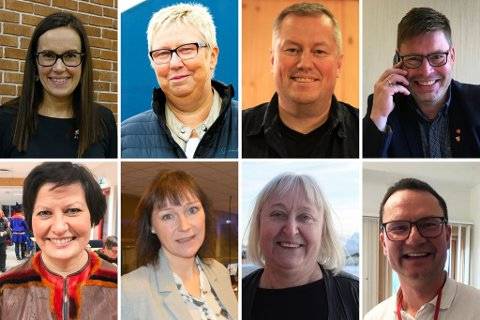 FIKK GAVER: Ordførerene Marianne Sivertsen Næss (Ap) i Hammerfest, Wenche Pedersen (Ap) i Vadsø, Ronald Wærnes (Sp) i Båtsfjord, Bernth R. Sjursen (Ap) i Måsøy, Helga Pedersen (Ap9 i Tana, Monica Nielsen (Ap) i Alta, og Eva D. Huseby (Ap) i Hasvik.
