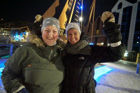 Håper på fredfulle tider: Lill Hege Brun og Veronica Holm Eriksen håper avgjørelsen til Helse Nord vil legge fred på den kraftige debatten mellom Alta og Hammerfest om lokasjon.
