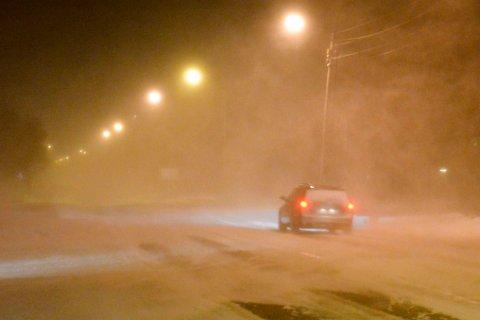 VINTER: Nå kommer det et ordentlig snøfall i Finnmark. Ved fjellovergangene kan det også bli snøfokk.