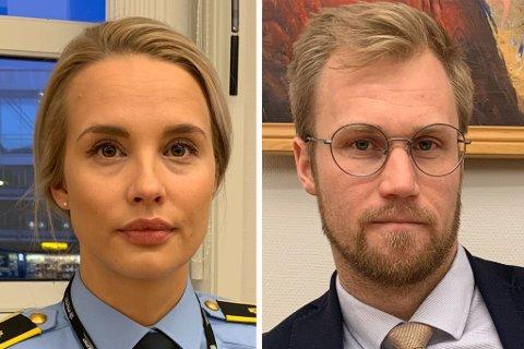Politiadvokat Guro Angell Steffensen og advokat Marius Ihlebæk.