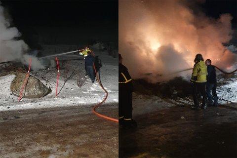 TIDLIG VARSLING INTERNT: Der 110-sentralen fikk varsel om brannen på Seiland klokken 00.28 ble første brannmann på øya ringt opp 14 minutter senere. Men da var allerede brannkorpset godt i gang med arbeidet.