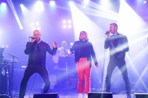 Keiino på City Scene i Alta under Sami Music Award 2019 9. februar 2019. Fred Rene Buljo (til ventre)  Alexandra Rotan og Tom Hugo. Foto: Oddgeir Isaksen