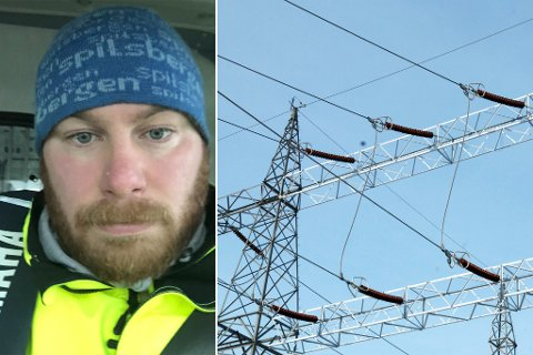 DOBBEL PRIS: Tor Eirik Dahle Halvorsen er lite fornøyd med den siste strømregninga som dumpet ned i postkassen. Illustrasjon.