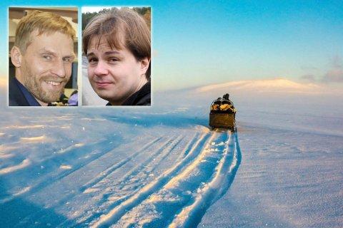 – IKKE AKKURAT ENIGE: Jo Inge Hesjevik (H), og Frode Elias Lindal (MDG).