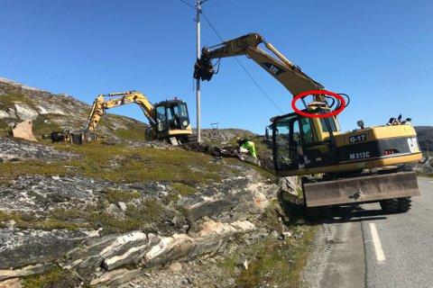 TYVERIER: Slike rotorbjelker har blitt stjålet fra Hammerfest-entreprenøren Gravepartner i AS ved flere anledninger.