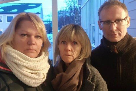SINTE: De tillitsvalgte som i flere omganger har ytret sterk misnøye mot den administrative ledelsen i Båtsfjord kommune. Fra venstre Fagforbundet (Anne Olavson), Sykepleierforbundet (Merete Eriksen) og Utdanningsforbundet (Atle Larsen).