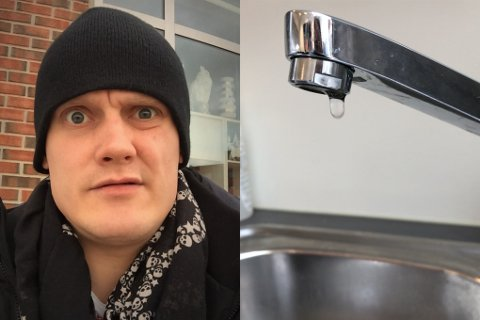 IRRITERT: Frank Steve Olsen sier han er irritert over kommunen og måten de behandler situasjoen med vannverket på.