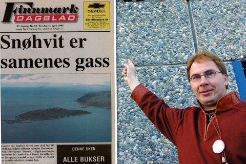 FYRTE MED GASS: Da tidligerer NSR-leder, János Trosten, uttalte at «Samene eier gassen» skapte dette het debatt i Finnmark.