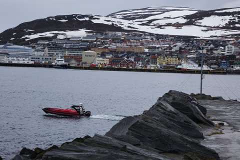 HAMMERFEST: I Hammerfest har det mandag vært overskyet og surt vær. Gradene nådde ikke lengre opp en til fem varmegrader på gradestokken denne dagen.