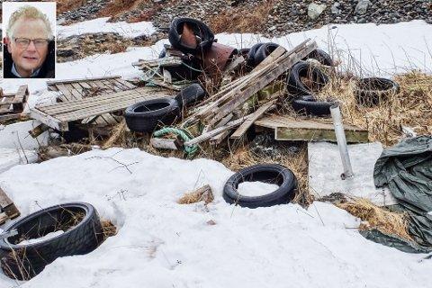HENSLENGT: Slike søppelhauger finner man overal. Edvard Akselsen reagerer på denne haugen. Se også andre bilder ved å bla bildeserien.