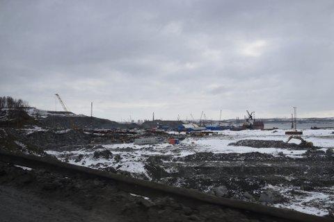 STOR UTBYGGING: Her skal kjempeanlegget i Murmansk ligge.