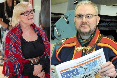 DYRT Å REISE: Siden hun begynte som Sápmi-sjef i 2013, har Mona Solbakk reist for nesten 1,2 millioner kroner. Redaktøren for avisen Ságat, Geir Wulff, reagerer ikke særlig sterkt på det, men mener lønna hennes er av en annen verden.
