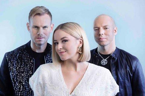 KEiiNO: Sangeren Alexandra Rotan, sanger/låtskriver Tom Hugo og låtskriveren, rapperen og joikeren Fred Buljo tar det rolig, eller «lugnt» som svenskene ville sagt det.