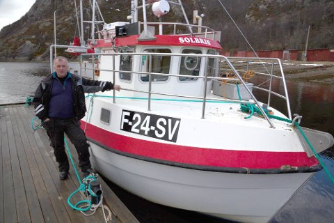 ENDELIG: Solbris ankret opp i hjemkommunen Sør-Varanger. Men båten skal stort sett ligge til kai i Havøysund.