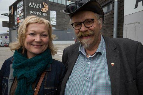 FLERTALL: Senterpartiet ved Cecilie Hansen og Kurt Wikan gikk sammen med Arbeiderpartiet i formannskapet og fikk flertall for Slambanken