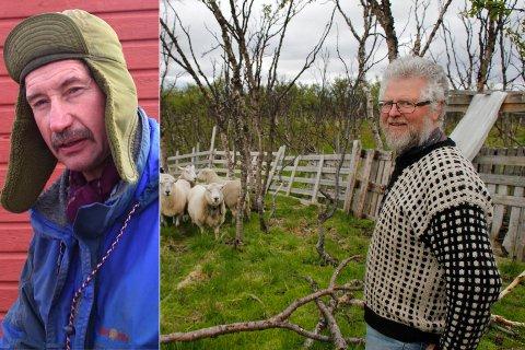 OVERRASKET: John Arne Neshavn (innfelt) ble overrasket da han forstod hvor sauefjøset til Arild Wiltmann Kero er planlagt plassert. Han mener det utgjør en fare for drikkevannet til innbyggerne i Meskelv. Reidrifta har allerede protestert på fjøsplanene.