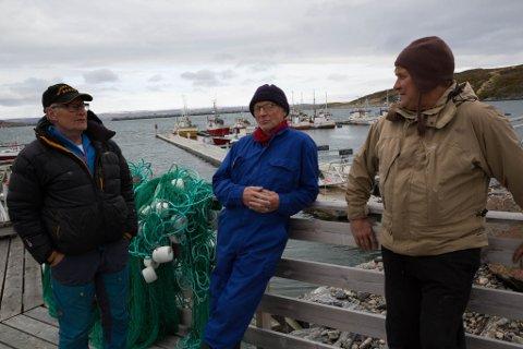 URETTFERDIG: Bugøynesfiskerne Leif Ingilæ (fra venstre), Yngve Pedersen og Oddvar Marjavara.