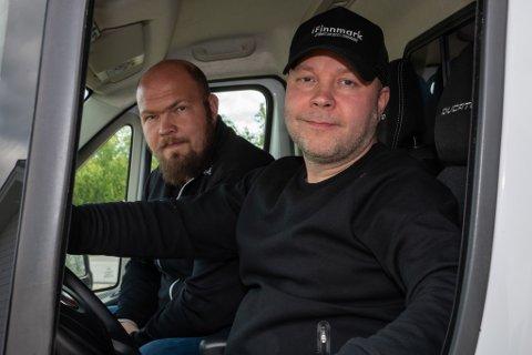 PÅ VEIEN: iFinnmarks Arnfinn Sjøenden (til venstre) og Stian Eliassen reiser, sammen med mange andre finnmarkinger, til Piteå Summer Games.