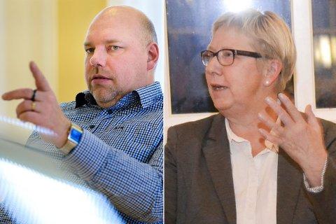 BEKYMRET: Både ordfører Hans-Jacob Bønå (H) og Wenche Pedersen (Ap) er bekymret over signaler de har fått om framtida til Statens vegvesen i Vadsø.