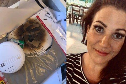 SJOKKERT: Da Kathrine Jakobsen oppdaget branntilløpet i skuffen ble hun svært overrasket.
