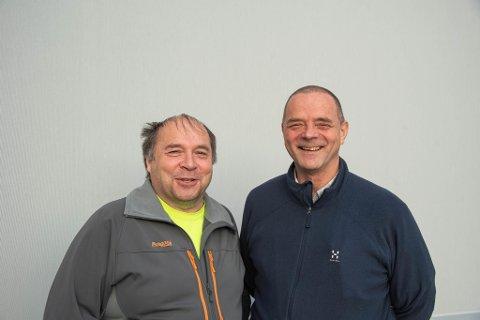 FLYENTUSIASTER: Jan Kristen Kristensen og Per Pedersen.