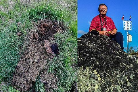 På fotojakt: Tidligere ordfører Kjell H. Sæther fant redet, men det var allerede besøkt.
