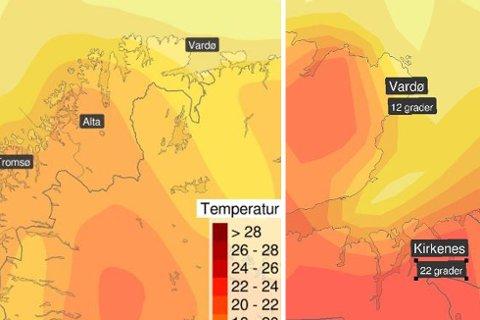 LOVER VARME: Meterologisk institutt melder om at nå er det varme og sol på vei nordover.