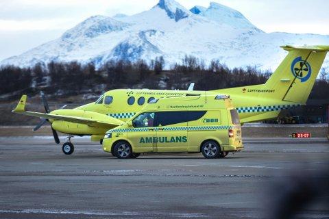 BEREDSKAP: Luftambulansen har økt beredskapen i nord og satt inn flere fly for å blant annet håndtere situasjoner som dette.  Foto: Rune Rafaelsen.