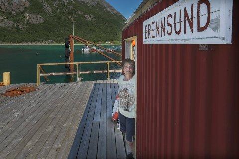 Irma Nilsen er eneste fastboende i Brennsund i Steigen