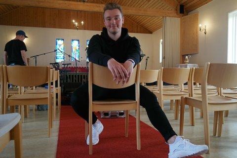 STARTER SELSKAP: Bilal Saab, her fotografert i forbindelse med kirkekonserten på Sørøyrocken tidligere i år, og bandet Northkid starter aksjeselskap.