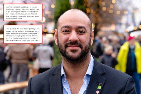 EKSKLUDERENDE: Farid Shariati opplever å bli utsatt for innvandringsfiendtlige kommentarer i sosiale medier.
