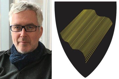 FYLKESVÅPENFORSLAG: Arnfinn Rognmo i Kjøllefjord har laget ett av de rundt 500 forslagene som er kommet inn på nytt fylkesvåpen.