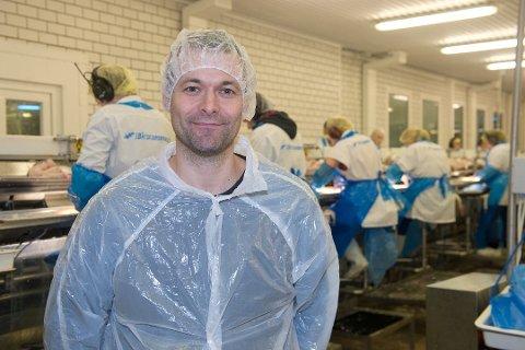 STENGER: Båtsfjordbruket og daglig leder Frank Kristiansen, stengte alle fiskemottakene i helgen.