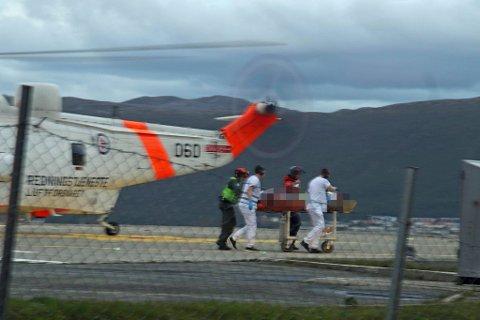 ANKOM UNN: En person er flydd til Universitetssykehuset i Nord-Norge (UNN) etter helikopterulykken.