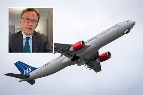 - Vi er klare på at vi kan ikke fortsette å fly til Spania for 250 kroner, sier finansdirektør i SAS, Thorbjørn Wist.