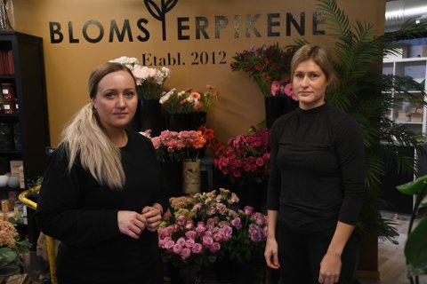 BLOMSTERPIKER: Elisabeth Berntzen (til venstre) og Ingvild Utkilen på Blomsterpikene Alta AS.