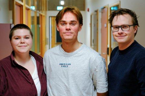 REDAKSJONEN: F.v Rose Mortensen Bjartveit (Produsent), Jakob Hardeberg Svensen (Regi) og Fredrik Holst (Fotograf) skal lage dokumentarfilm om Nussir