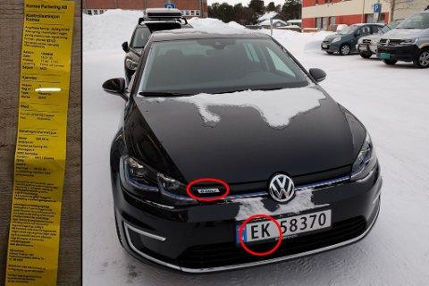 BOMMET FÆLT: Vedkommende burde heller lagt bota til noen med BMW og ikke en eier av Volkswagen e-Golf, ifølge Rebecka Karin Nygård. Og at på til en god merket elbil.