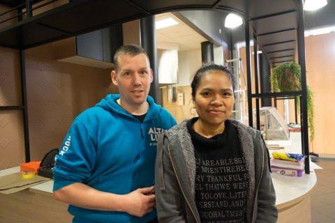 SPENTE: Aranya Visaiket har med seg Andreas Stock på laget nå hun etter planen åpner restauranten torsdag.