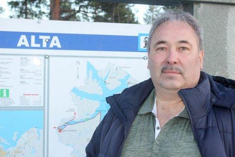 ALTAFOBI: Leder i Alta Sp, Jan Martin Rishaug , tror ikke det hadde nyttet uansett hvem de hadde foreslått som kandidat, noe han forklarer med en generell Alta-motstand i resten av fylket.