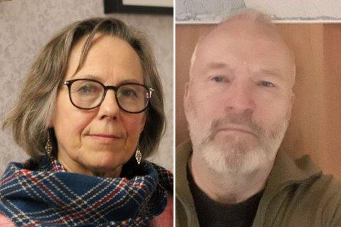FASTEAKSJON: Aktivistene Annie L. Henriksen i Hammerfest og Gunnar Reinholdtsen i Sør-Varanger faster for miljøet.