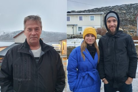 KLAGER: Fisker Odd Inge Hansen mener at Lyder har gjort mye bra for lokalsamfunnene i Lebesby. Romaldas Kasiliauskas og Kristina Jonusaite har satt stor pris på hjelpen de har fått av Lyder Fisk, og synes det er urettferdig at kommunen nå har ilagt selskapet hans en bot