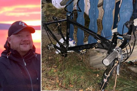 STRIPPET: Slik fant Jan Henrik Storhaug sykkelen, da han kom fra hyttetur: Strippet for sete og hjul.