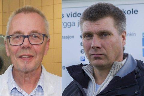IMOT: Rektor Geir Remme i Vardø og rektor Øystein Hansen ved Kirkenes videregående skole er imot innstillingen på èn inntaksregion i Finnmark.