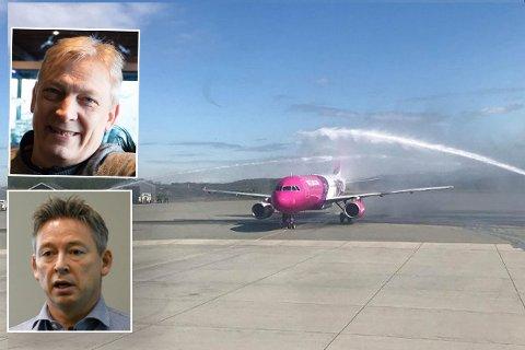 GOD NYHET: Øyvind Sollie i Kirkenes Snow Hotel og daglig leder i Alta Næringsforening, Kjetil Kristensen, er spent på det nye flytilbudet.