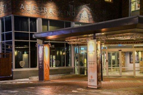 HAR VÆRT STENGT: Aurora kino her i Alta har vært mye stengt i 2020 på grunn av koronasituasjonen.